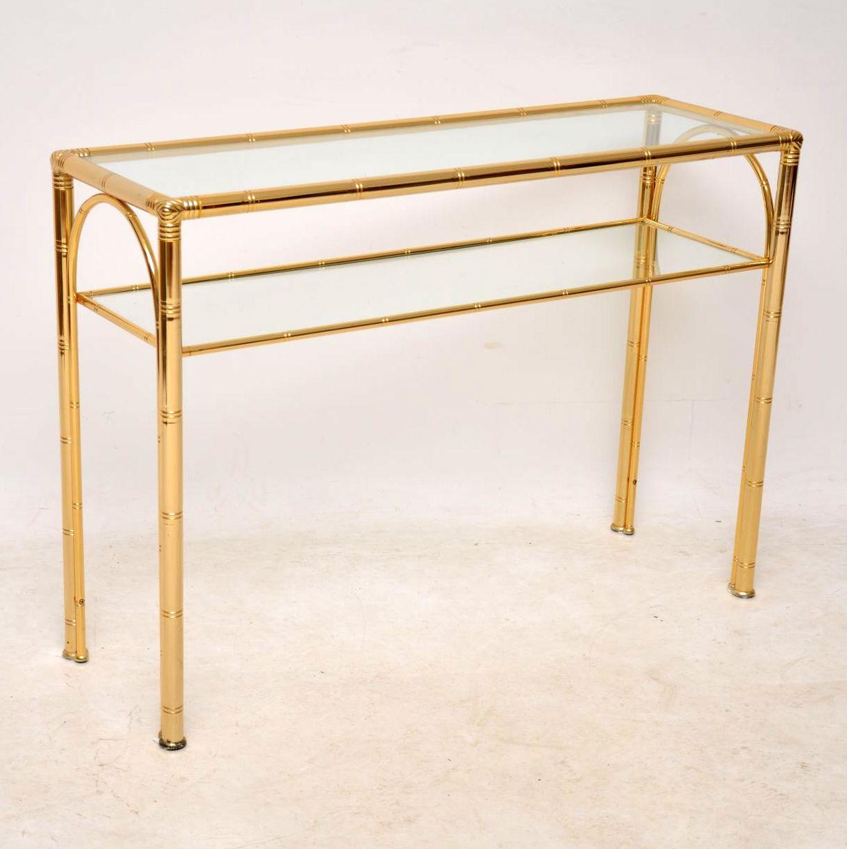 1970 S Vintage Brass Console Table Retrospective