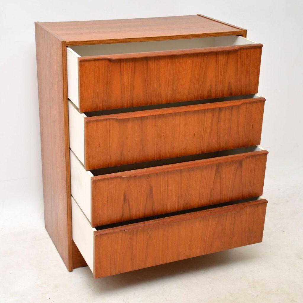 danish teak retro chest of drawers