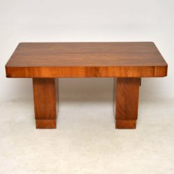 art deco walnut vintage dining table