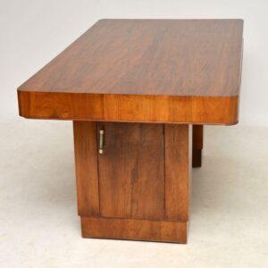 art deco walnut vintage dining table