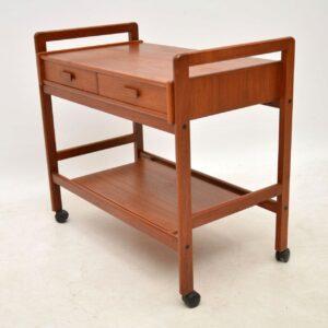 danish teak vintage drinks trolley table