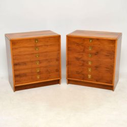 1960's Pair of Yew Wood Chests by Robert Heritage for Archie Shine