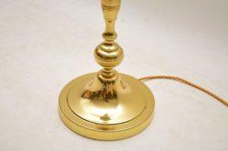 vintage brass standard lamp