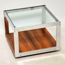 1960's Rosewood & Chrome Coffee Table by Merrow Associates