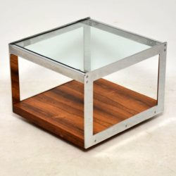 merrow associates vintage rosewood and chrome coffee table