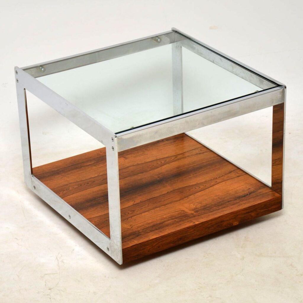 merrow associates vintage rosewood and chrome coffee table
