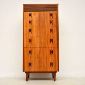 1960's Walnut & Zebrano Vintage Chest of Drawers