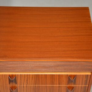 vintage walnut rosewood tallboy chest of drawers