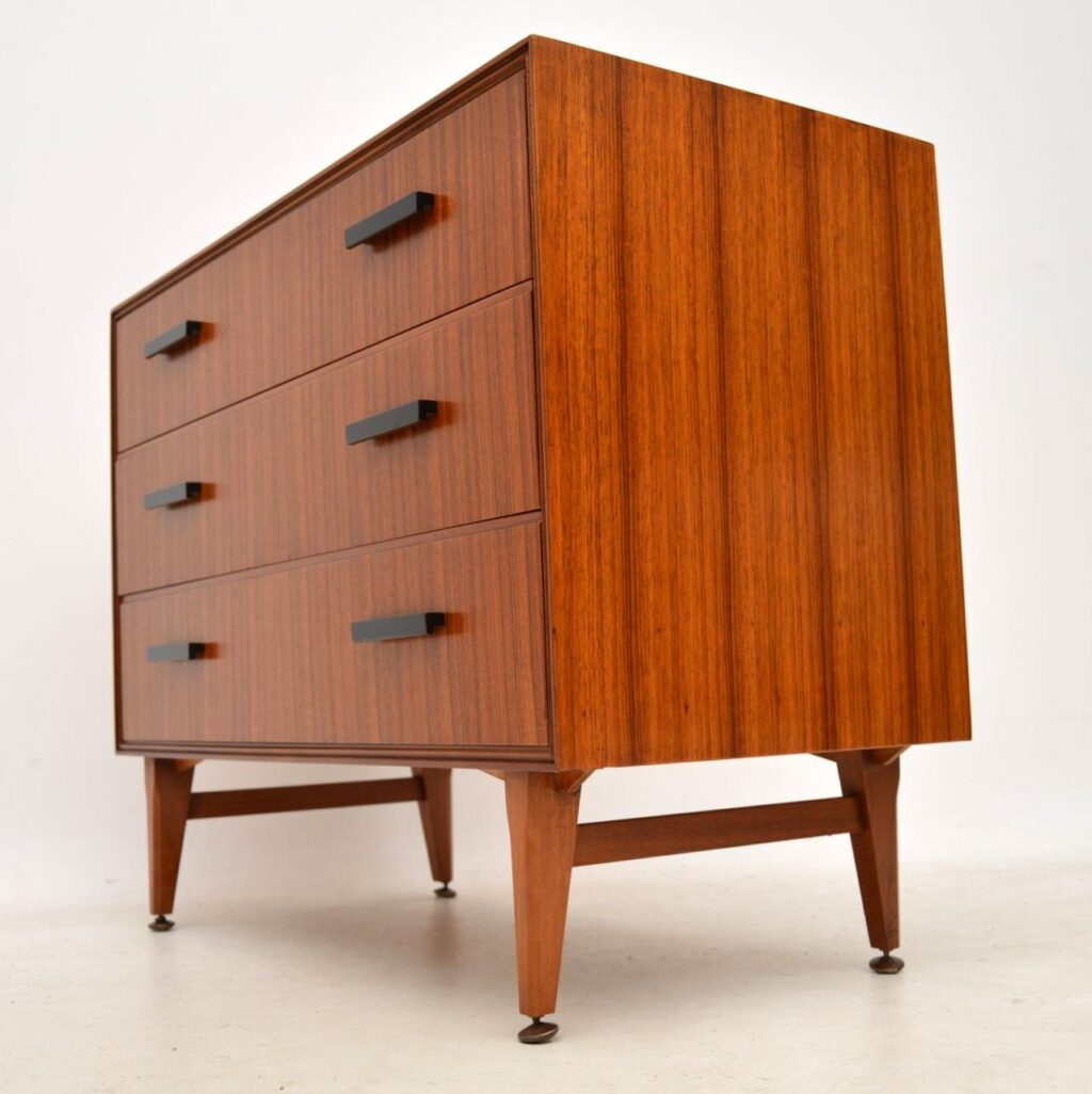 vintage walnut chest of drawers