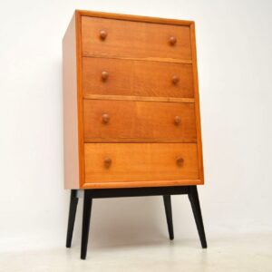 retro oak tallboy chest of drawers