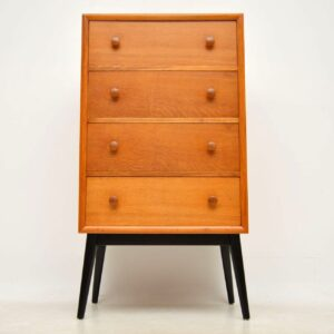 1950's Oak Tall Boy Chest of Drawers by Herbert Gibbs