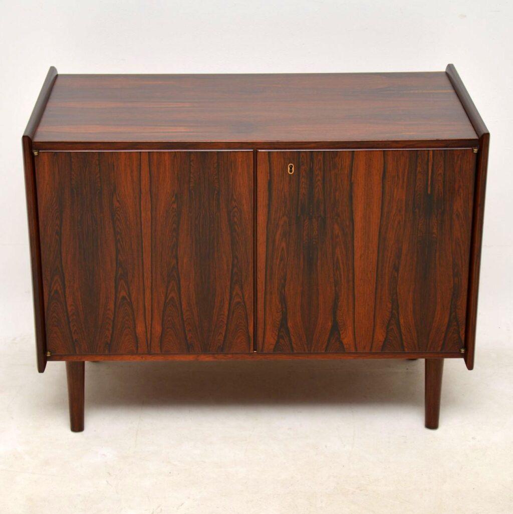 danish rosewood vintage sideboard cabinet