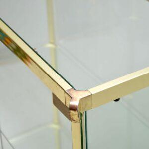 vintage italian glass and brass display cabinet romeo rega