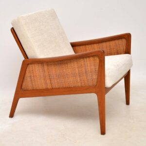 danish teak armchair by peter hvidt