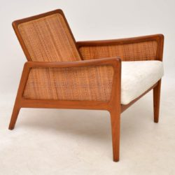 danish teak armchair by peter hvidt