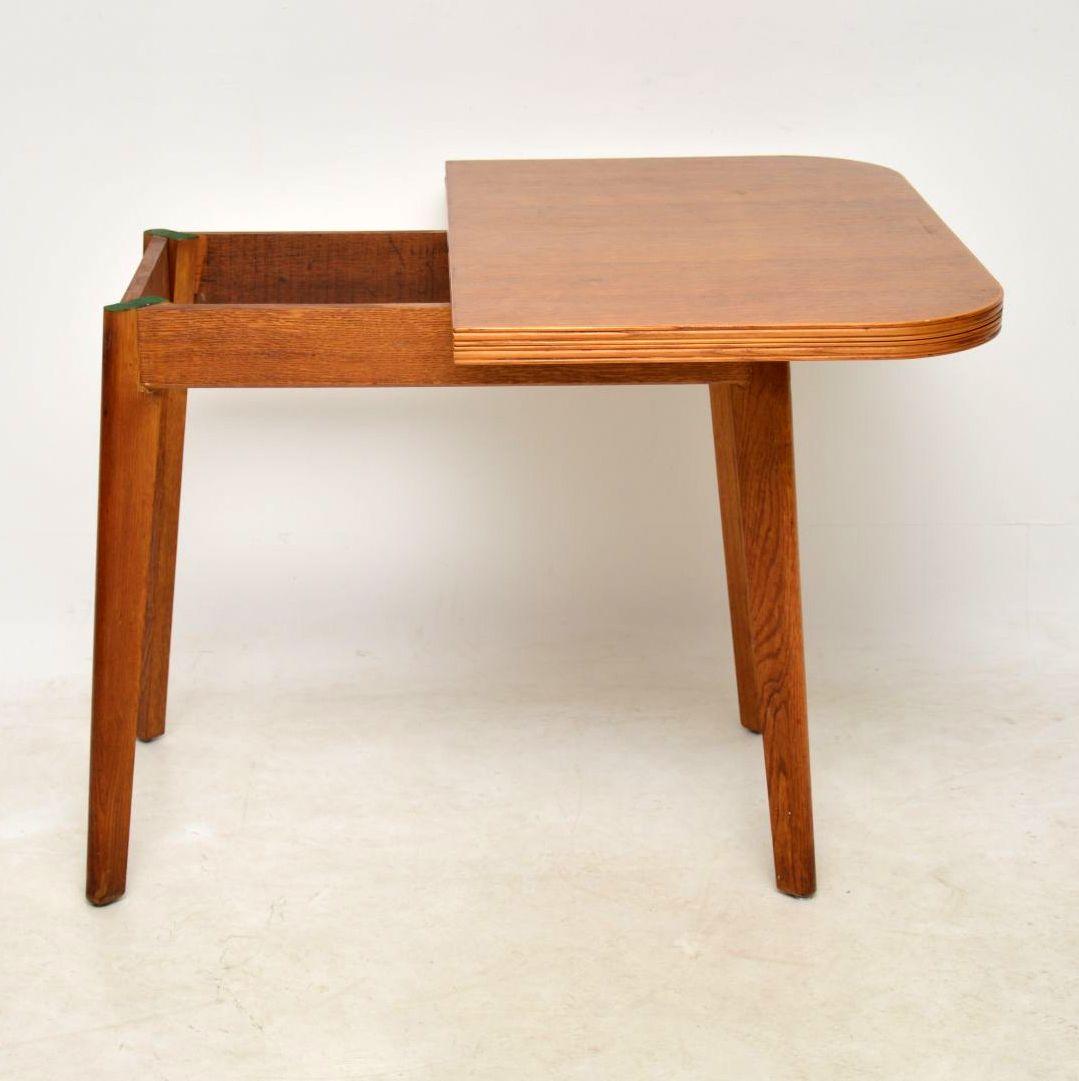 1950 S Vintage Oak Dining Table Side Table