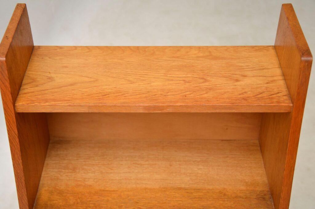 vintage oak open bookcase