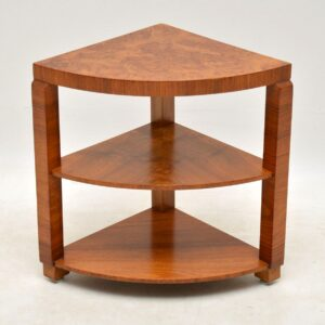 art deco burr walnut vintage nesting coffee table