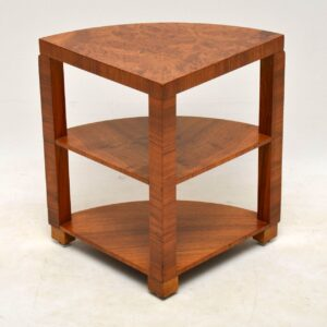 1920's Art Deco Burr Walnut Nesting Coffee Table
