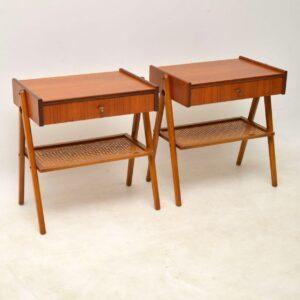 vintage swedish teak bedside tables
