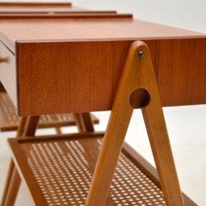 1960's Pair of Swedish Teak Bedside Tables by AB Carlstrom