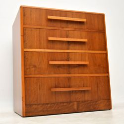 1930's Vintage Art Deco Walnut Chest of Drawers