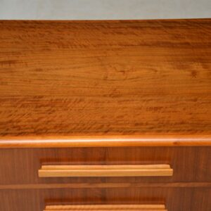 art deco vintage walnut chest of drawers