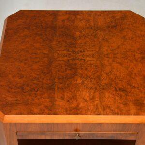 1920's Art Deco Vintage Walnut Coffee Table / Side Table
