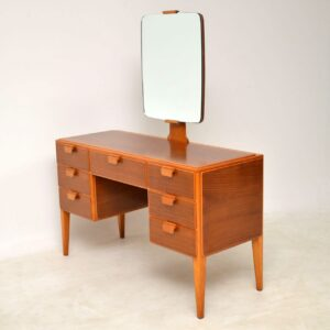 1950's Vintage Walnut Dressing Table