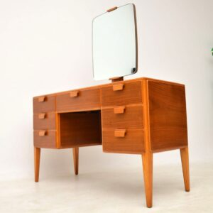 vintage walnut dressing table