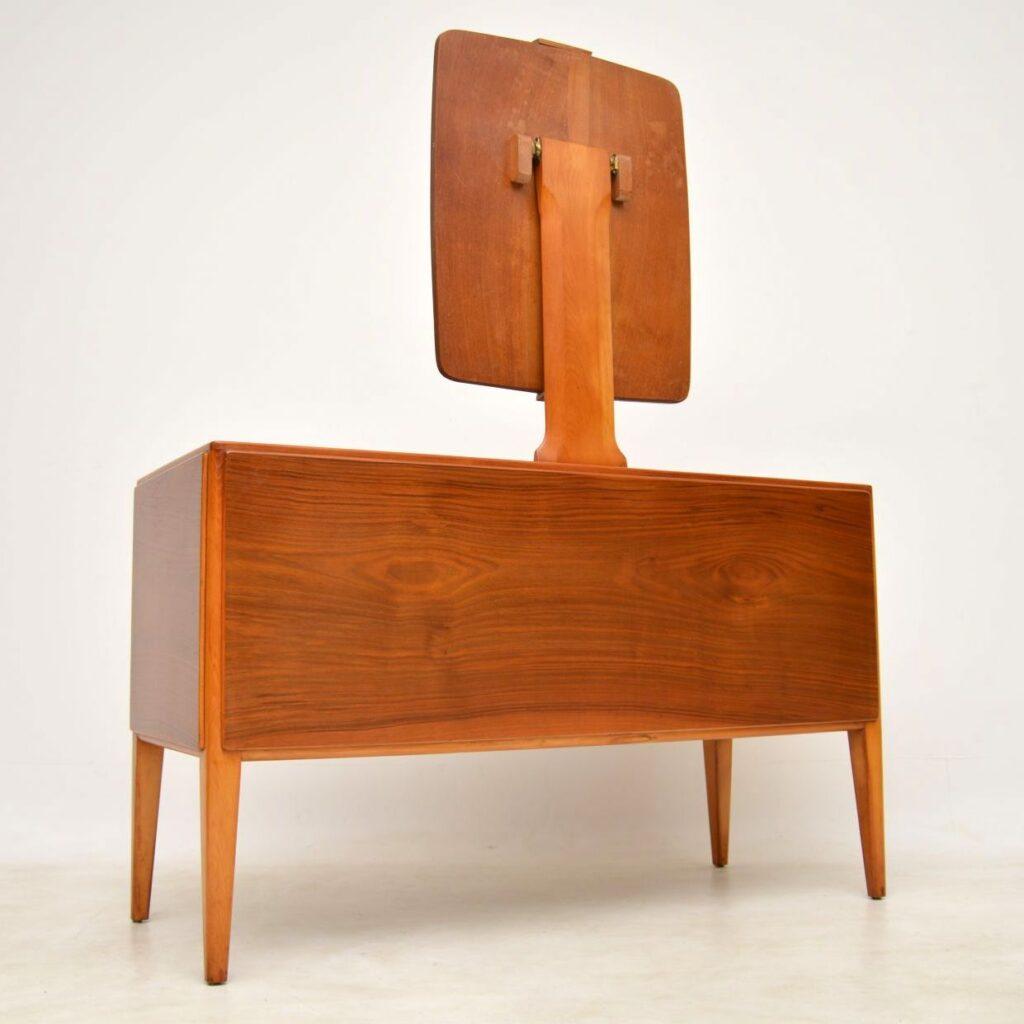 vintage walnut dressing table