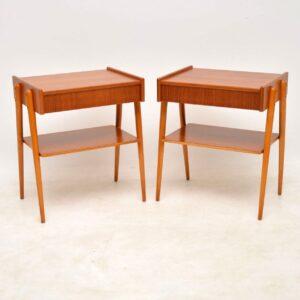 vintage swedish teak side tables bedside tables
