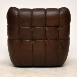 retro leather sofa and armchair