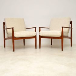 1960's Vintage Pair of Danish Teak Armchairs by Grete Jalk