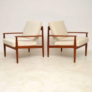 vintage danish teak armchairs grete jalk