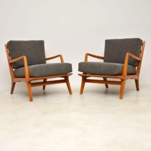 pair of italian vintage armchairs by carlo de carli