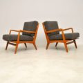 1950's Vintage Italian Pair of Armchairs by Carlo De Carli