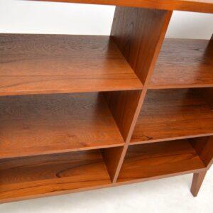 teak vintage bookcase room divider