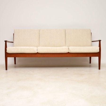 1960's Vintage Danish Teak Sofa by Grete Jalk