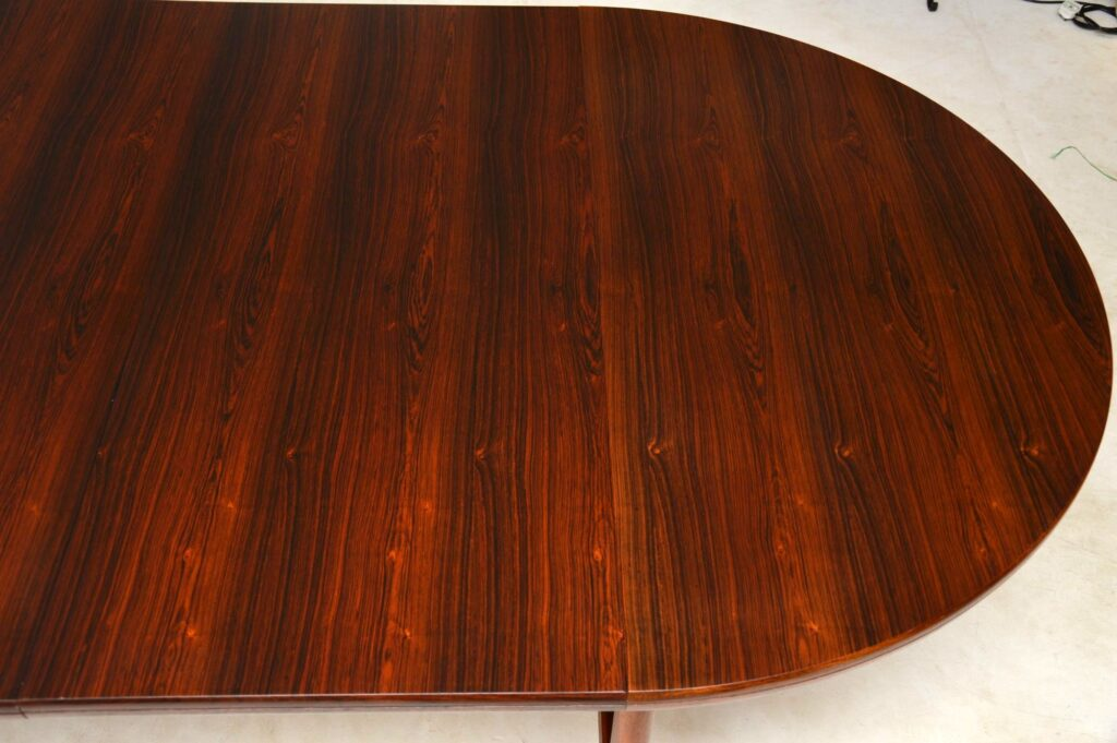 robert heritage archie shine rosewood vintage dining table
