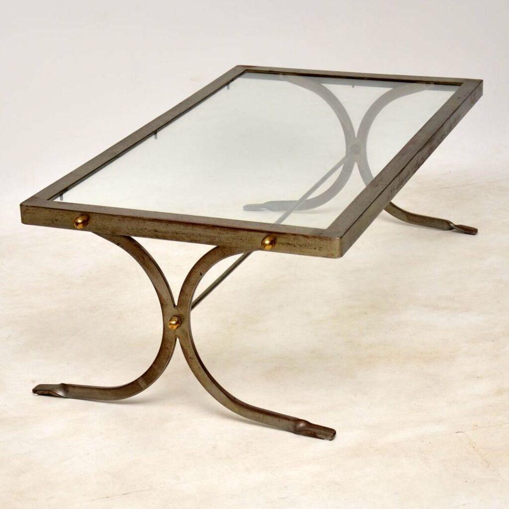 vintage iron coffee table