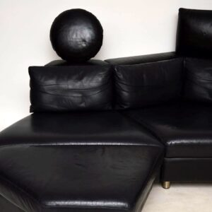 vintage leather sectional sofa by rolf benz