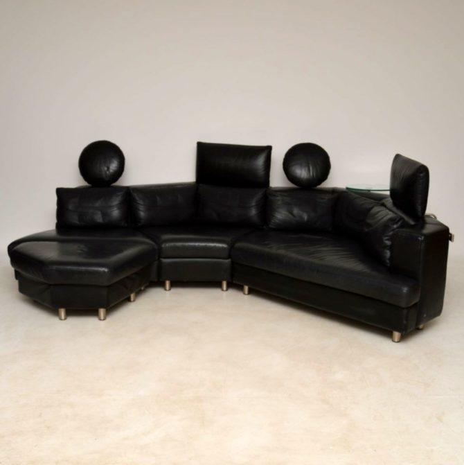 Phenomenal 1970S Vintage Leather Modular Sofa By Rolf Benz Download Free Architecture Designs Scobabritishbridgeorg