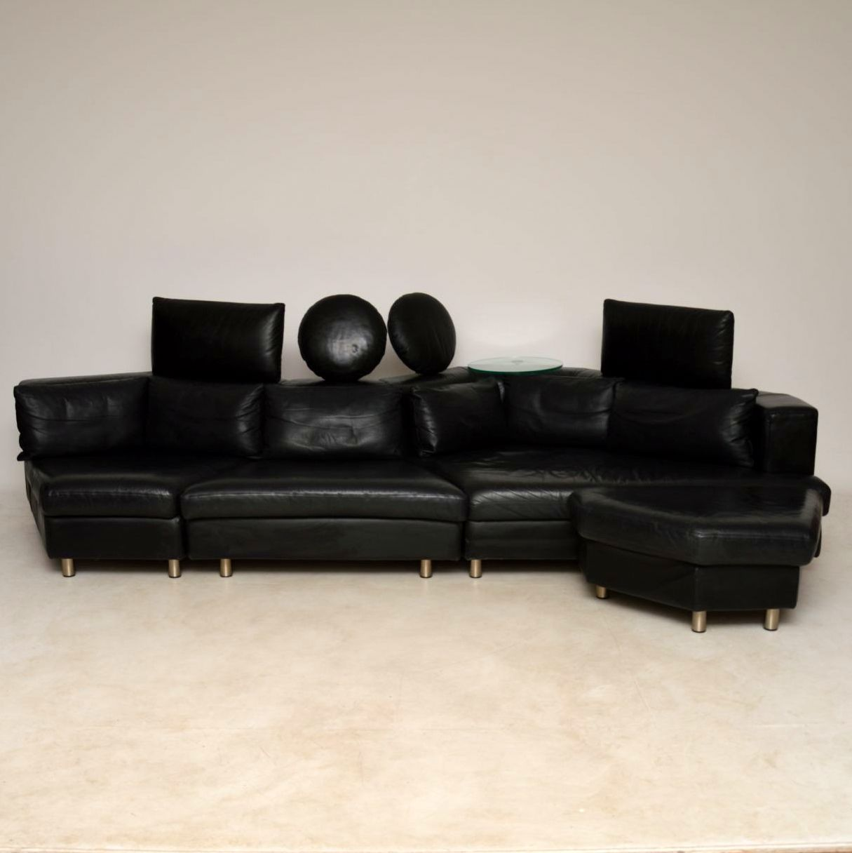 Voorkeur 1970's Vintage Leather Modular Sofa by Rolf Benz | Retrospective  NV86