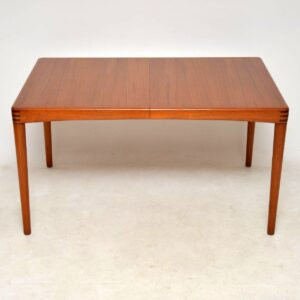 1960's Danish Teak & Rosewood Dining Table by H.W Klein for Bramin