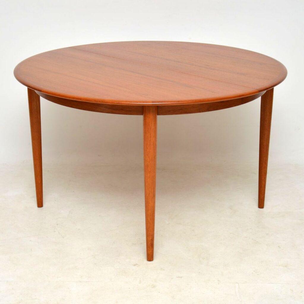danish teak vintage dining table