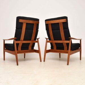 pair of danish teak arne vodder armchairs