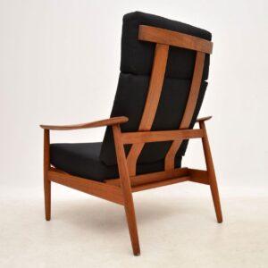1960's Pair of Danish Teak Reclining Armchairs by Arne Vodder