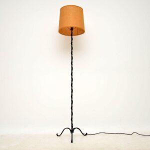 antique iron floor lamp