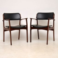 1960's Pair of Danish Rosewood Armchairs by Erik Buch